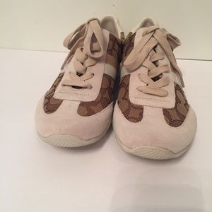 ⭐️ COACH NEW SNEAKERS C OUTLINE BROWN CREAM 7.5